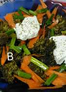 Σαλάτα με μπρόκολοκαρότο και φέτα