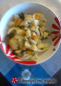 Πατατοσαλάτα με πορτοκάλι και κρεμμύδι