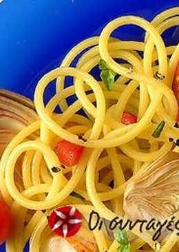 Barilla Spaghetti με αστακό και αγκινάρες