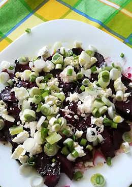 Σαλάτα με ψητά παντζάριακαι φέτα