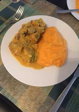 Το δικό μου λεμονάτο χοιρινό με πουρέ από πατάτες και καρότο
