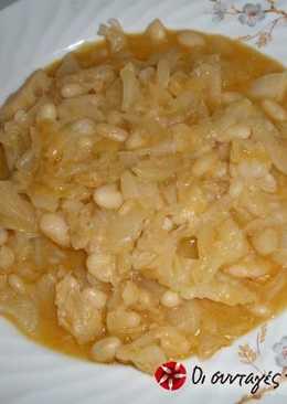 Φασόλια με λάχανο τουρσί