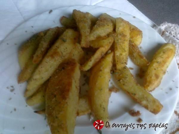 Αλευρωμένες τραγανές πατάτες φούρνου