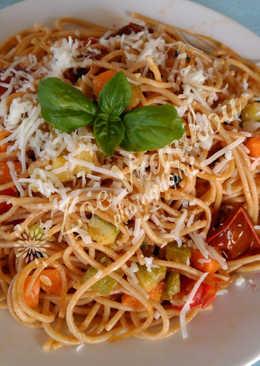 Σπαγγέτι ολικής με λαχανικά αλά Ζωή