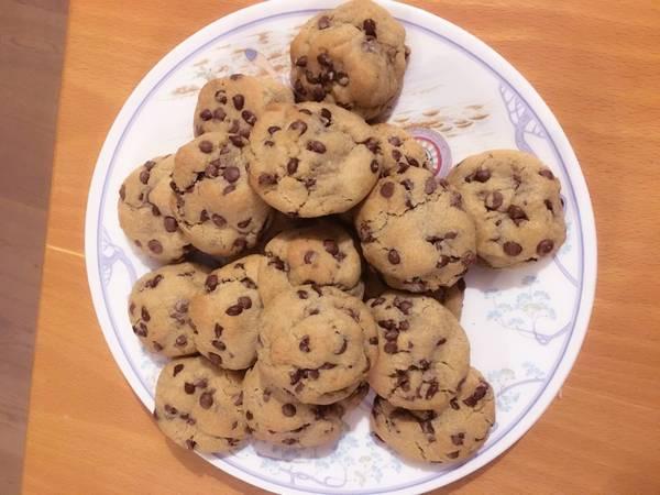 Cookies με κομμάτια σοκολάτας (μαλακά)