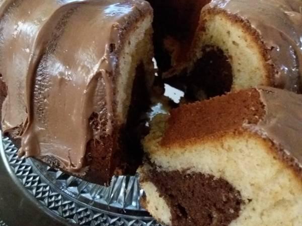 Κέικ σοκολάτα μπανάνα