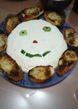 Χαμογελαστό ντιπακι τυριών της Μαίρης