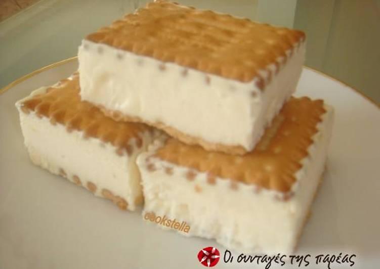 Πανεύκολο παγωτό σάντουιτς