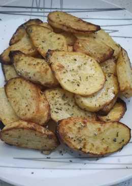 Ψητές πατάτες λαδολέμονο στη στιγμή χωρίς ταψιά και μπελάδες. 👍