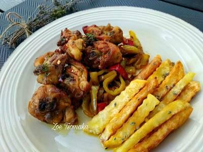Ζουμερά και Αρωματικά Παϊδάκια Κοτόπουλου στο τηγάνι