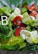 Σαλάτα με ψητές πιπεριές και φέτα