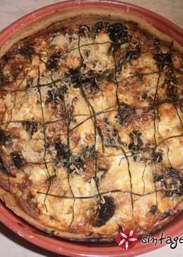 Κις (quiche) με μπρόκολο, κολοκυθάκι και τυριά