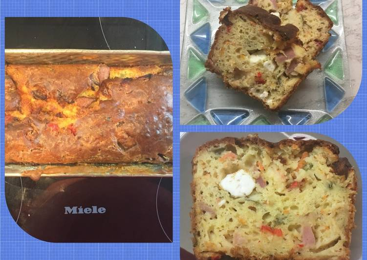 Αλμυρό κέικ με τυριά και ζαμπόν Αντώνης