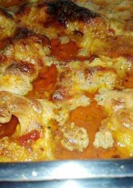 Κουνουπίδι φούρνου κοκκινιστό με γιαούρτι, φέτα και γραβιέρα