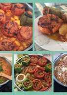 Γεμιστά ντομάτες & πιπεριές ορφανά στο φούρνο Αντώνης