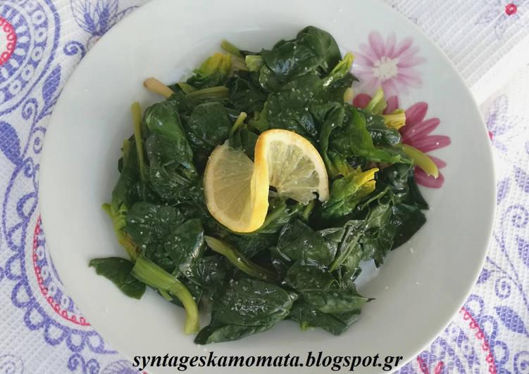 Βραστή σαλάτα σπανάκι