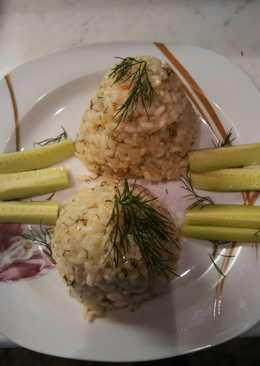 Βραστό ρύζι με κύβο λαχανικών και άνηθο!!!