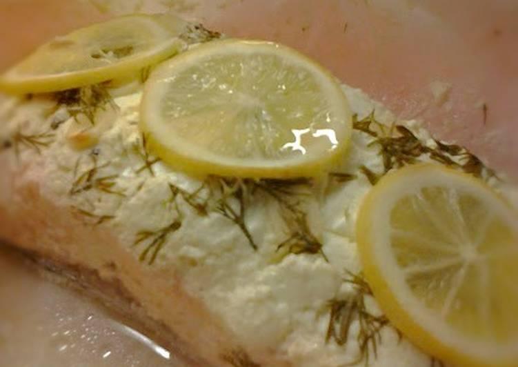 Σολομός en papillote (γαλλική συνταγή)