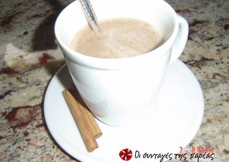 Σοκολάτα με καφέ και αρωματική κανέλα