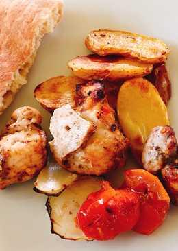 Καρυκευμένο κοτόπουλο σουβλάκι