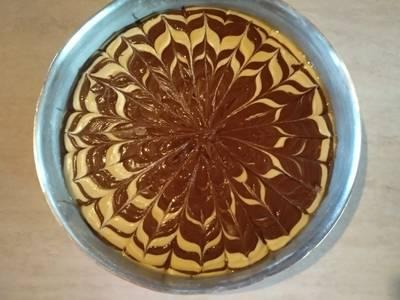 Κέικ απλό δίχρωμο