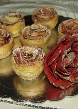 Τριαντάφυλλα σφολιάτας με άρωμα μήλου