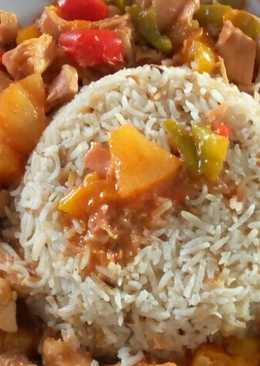 Κοτόπουλο με πολύχρωμες πιπεριές ανανά και γλυκόξινη σάλτσα!