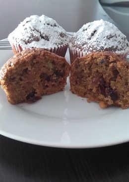 Muffins με κολοκύθα και κρανμπερι