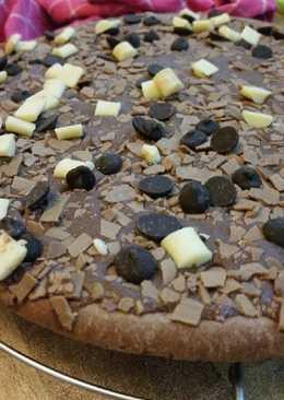 Πίτσα σοκολάτας!!!!🍫