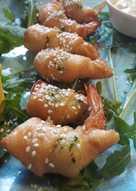 Γαρίδες τυλιγμένες σε σφολιάτα και Remoulade sauce