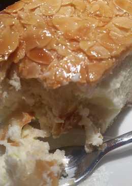 Λεμονόπιτα ψυγείου, με κρέμα τυριού και καραμελωμένο φιλέ αμυγδάλου