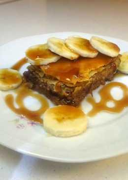 Σοκολατόπιτα με καραμελωμένες μπανάνες