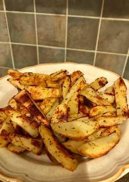 Πατάτες φούρνου σαν τηγανιτές