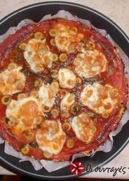 """""""Κάλπικη"""" pizza με κουνουπίδι. Και χωρίς ζύμη!!!"""