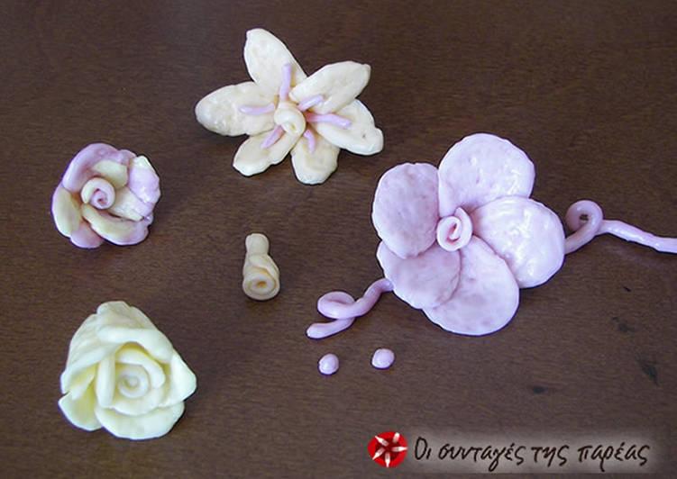 Φτιάχνω λουλούδια από καραμέλες