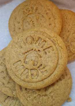Μπισκότα με μαύρη ζάχαρη, τζίντζερ και κανέλα