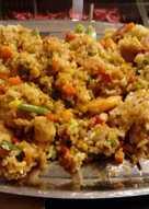 Τηγανητό ρύζι λαχανικών με γαρίδες!!