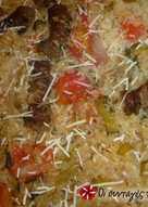 Λουκάνικα στον φούρνο με ρύζι και ντοματίνια από την Αργυρώ