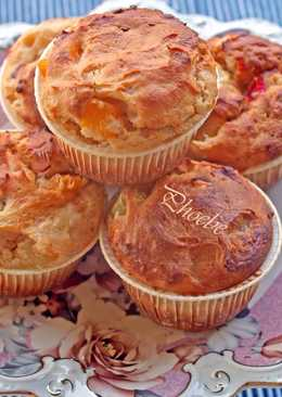 Muffins με κομπόστα φρούτων