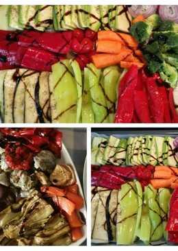 Ζεστή #σαλάτα ψητών λαχανικών... όλος ο κήπος στο πιάτο μας..!!