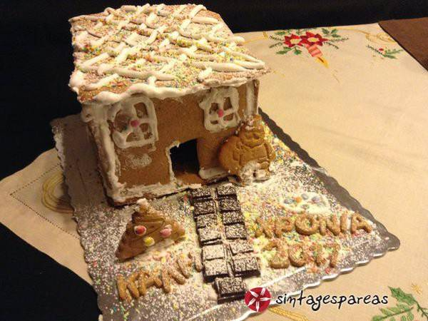 Χριστουγεννιάτικα σπιτάκια με gingerbread