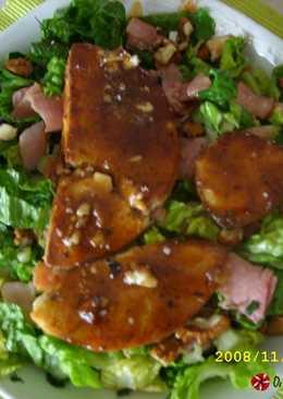 Σαλάτα μαρούλι με μελωμένο τυρί μανούρι