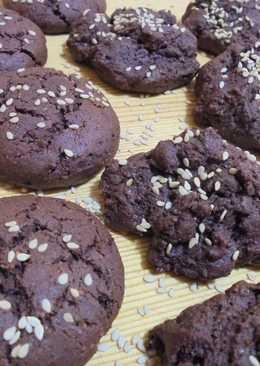 Σοκολατένια μπισκότα με ταχίνι