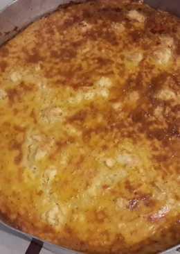 Αλμυρή τραχανόπιτα χωρίς φύλλο