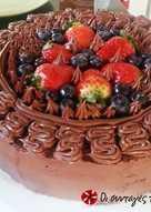 Τούρτα με μύρτιλλα και φράουλες