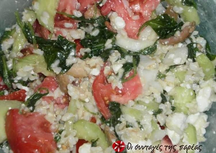 Ελληνική Καλοκαιρινή Ρυζοσαλάτα