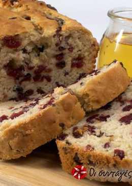 Ψωμί με πορτοκάλι και cranberries