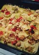 Φιλετάκια κοτόπουλο ψημένα με λαχανικά