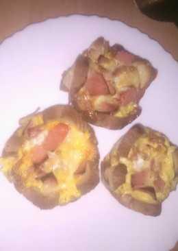 Ομελετούλες στο φούρνο με ψωμί του τοστ