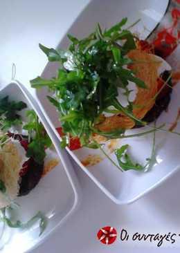 Σαλάτα με καταΐφι, σορμπέ λεμόνι και άλλα